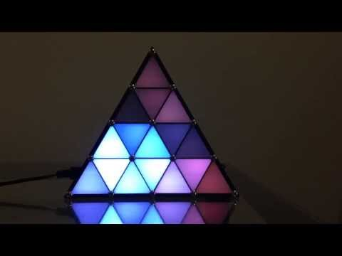 LED triangle, attractor pattern