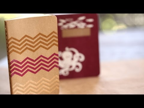 How to Make Stamp Embossed Journals || KIN DIY