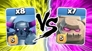 Video Clash Of Clans - SUPER HEAVY WEIGHT FIGHT!! - MAX PEKKA vs MAX GOLEM CoC 2016! MP3, 3GP, MP4, WEBM, AVI, FLV Mei 2017