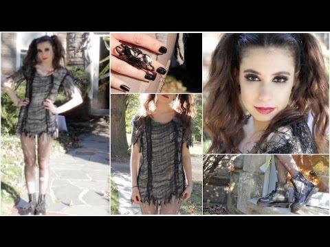 Vampire • Witch • Zombie | Cute Halloween DIY Tutorial: Makeup, Hair, & Costume!