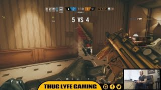 "This Rainbow Six Siege Gameplay Video features a single multiplayer match consisting of Funny Moments, Fails, Kills, and Deaths.After struggling with randoms in Rainbow Six Siege Ranked matchmaking, we decide to fully ""Squad Up"" with a five-man team. What follows is a testament to how effective communication and teamwork is.If you enjoyed this FUNNY Rainbow Six Siege Gameplay Video, then feel free to: Comment / Share / Thumbs Up / Subscribe*OPERATION SUPPLY DROP*https://fundraise.operationsupplydrop.org/thuglyfegaming*SOCIAL NETWORKS*Instagram - http://www.instagram.com/thuglyfegamingFacebook - http://www.facebook.com/thuglyfegamingTwitter - http://www.twitter.com/thuglyfegamingTwitch - http://www.twitch.tv/thuglyfegaming/profileI here VERIFY that I have PURCHASED and OWN receipt proof for the USAGE RIGHTS to all MUSIC and SOUND content used within this video. The following files were used:www.20DollarBeats.com - ""Mission To Get Paid"" - Payments made out to RJ Interactive - Contributing Artist: Kustom Beatzwww.20DollarBeats.com - ""Nukoa Battle"" - Payments made out to RJ Interactive - Contributing Artist: Kustom Beatzwww.20DollarBeats.com - ""Buzzy"" - Payments made out to RJ Interactive - Contributing Artist: Kustom Beatz"