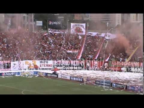 VIDEO: Recibimiento Barra Caracas FC Vs Deportivo Táchira 6.5.12 - Los Demonios Rojos - Caracas