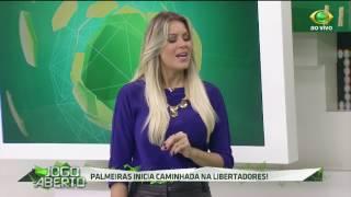 A turma de comentaristas arriscou o placar do jogo de estreia do Verdão na Libertadores contra a equipe argentina.