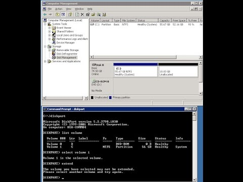 How to expand C drive space in 2003 server through freeware tool