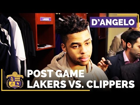 Video: D'Angelo Russell After The Lakers Beat The Clippers On NBA Christmas Day