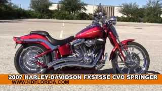 5. Used 2007 Harley Davidson CVO Springer Motorcycles for sale