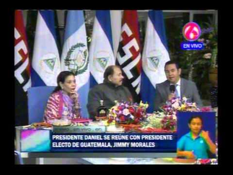 Comandante Daniel y Compañera Rosario reciben visita del Presidente electo de Guatemala