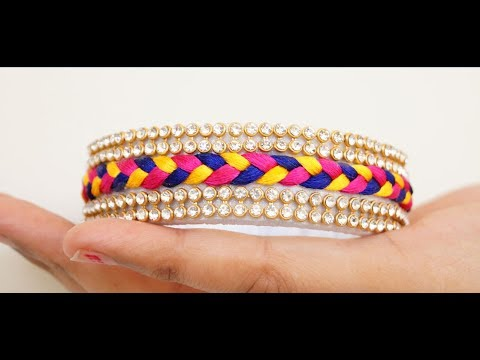 Silk Thread Braid Bangle(Eng Sub)