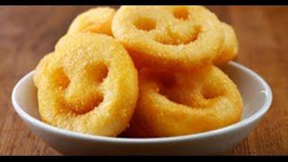 Potato Smiley Recipe - How to Make Fried Potato Smiley
