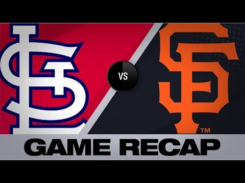 Video: Slater, Sandoval lead charge in 8-4 win   Cardinals-Giants Game Highlights 7/6/19