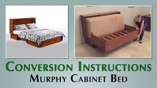 Queen Murphy Cabinet Bed Buttercream by Night&Day Furniture