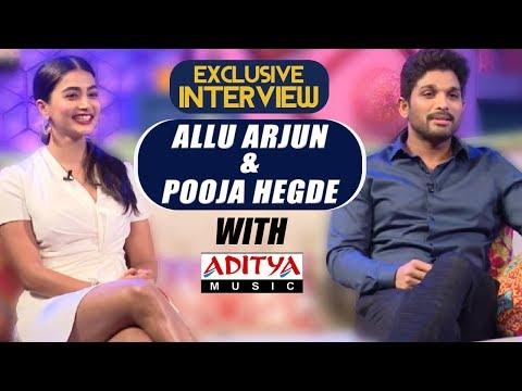 Video EXCLUSIVE    Live Interview With Allu Arjun & Pooja Hegde   Aditya Music   DSP   Harish Shankar download in MP3, 3GP, MP4, WEBM, AVI, FLV January 2017