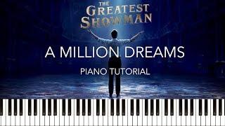 Video The Greatest Showman - A Million Dreams (Piano Tutorial & Sheets) MP3, 3GP, MP4, WEBM, AVI, FLV Januari 2018