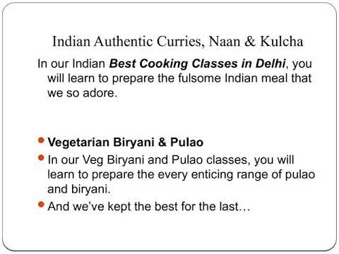 Indian Food Cooking Classes In Delhi