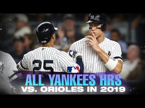 Video: All Yankees home runs against Orioles from this season!