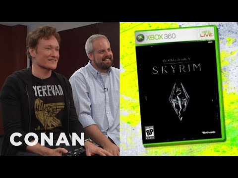 skyrim - Conan's on a quest for love (and chickens) in his review of