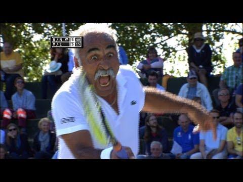 Magic in Tennis - Mansour Bahrami, Yannick Noah, Henri Leconte and John McEnroe