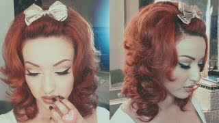 Messy 60's Mod Hair Tutorial - YouTube