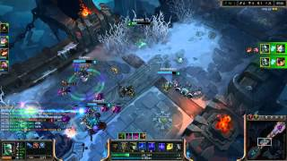 Full Game here - http://www.youtube.com/watch?v=EdmmXVKfT0oFiddlesticks is one of the most op champs in ARAM. AP poke is what gives you assured ARAM wins. Fiddlesticks has insane poke potential and easy kills under the turrets.