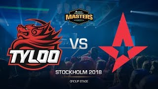 TyLoo vs Astralis - DH MASTERS Stockholm - map3 - de_dust2 [CrystalMay, Anishared]