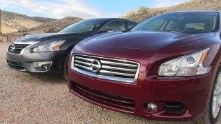 2013 Nissan Altima Vs Maxima 0-60 MPH Mashup Review