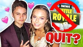 My Little Brother Got A NEW Girlfriend & QUIT Fortnite (15 Year Old Kid)