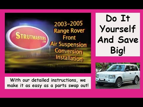 2003-2005 Range Rover Front Air Suspension Conversion Installation