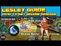 LESLEY GUIDE - LEARN HOW TO DEAL INSANE DAMAGE!! - BEST LESLEY ITEM