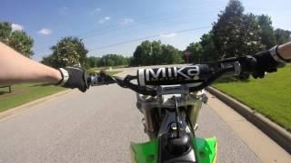 2. kx125 top speed run
