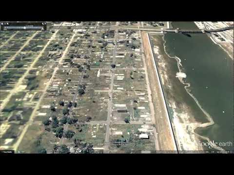 Google Earth Lower Ninth Ward Before & After Hurricane Katrina Animation