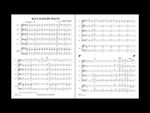 Blue Danube Waltz By Johann Strauss, Jr./arr. Robert Longfield