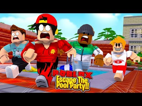 ROBLOX - ESCAPE THE POOL WITH MY NEW FRIENDS!!