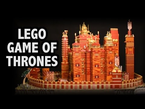 An Incredible 125 000 Piece Motorized LEGO Version of the Red Keep From Game of