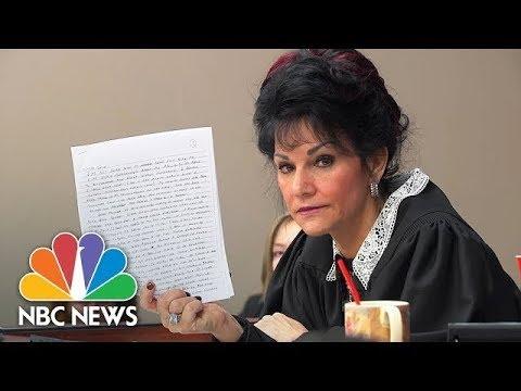 Judge Rosamarie Aquilina Slams Larry Nassar's Letter About Sentencing | NBC News