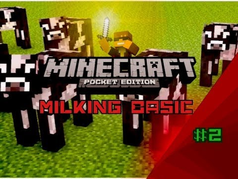 how to get milk in minecraft p e