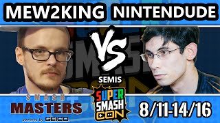 Smash Masters Semis – FOX MVG Mew2king Vs. Splyce | Nintendude – Super Smash Con 2016