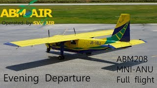 In this video we view the main highlights of my entire ABM Air flight 208 from the J A Osborne Airport in Montserrat to Antigua on ...