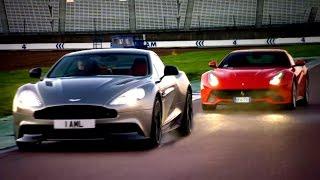 Ferrari F12 vs. Aston Martin Vanquish: Head To Head Race - Fifth Gear by Fifth Gear