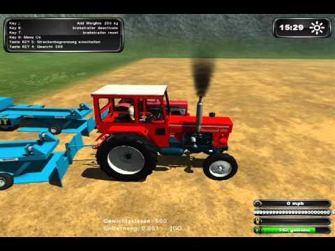 Farming Simulator 2011 Tractor Pulling Part 1
