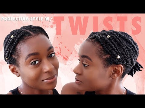 Hairstyles for short hair - Quick and Easy Protective Style for Short Natural Hair  2 Strand Twist Style