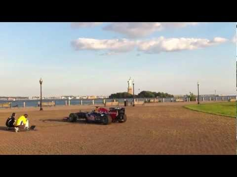 F1 Running Showcar Plays The Star-Spangled Banner