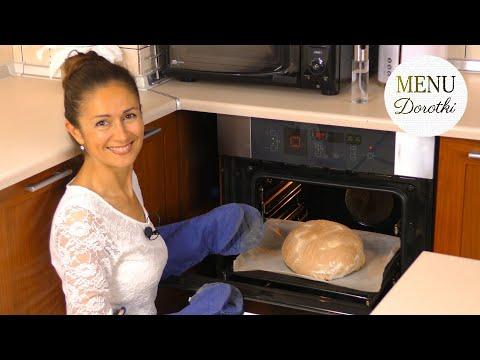 Domowy pszenny chleb na zakwasie z chrupiącą skórką. Przepis jak upiec taki bochenek. MENU Dorotki