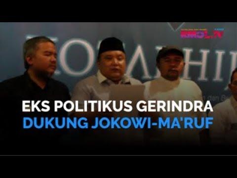 Eks Politikus Gerindra Dukung Jokowi-Ma\'ruf