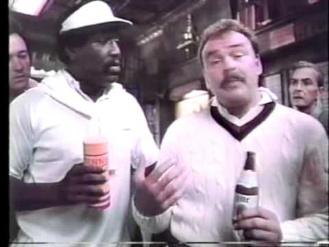 Miller Lite, 1979 11 18, Bubba Smith and Dick Butkus tennis