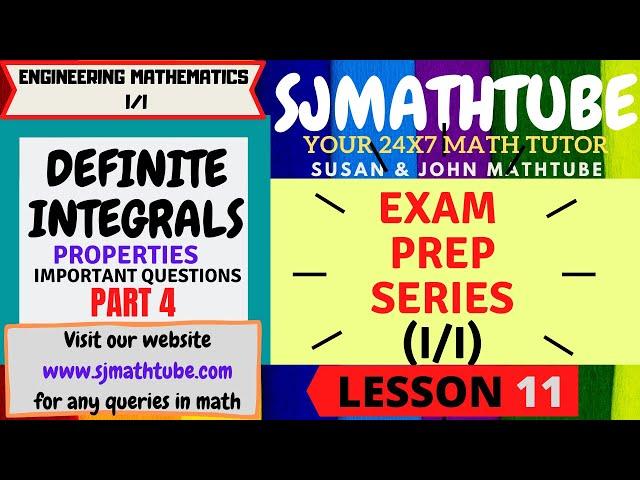 11 - Definite Integrals Properties Problems (4)