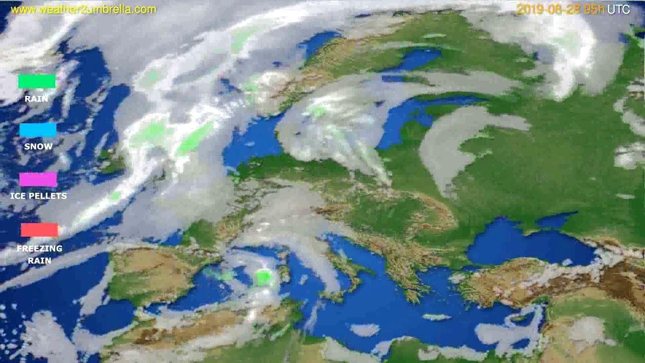 Precipitation forecast Europe // modelrun: 00h UTC 2019-08-26