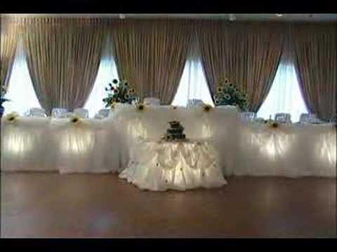 Свадебный декор для зимнего торжества (видео)