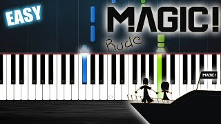 MAGIC! - Rude - EASY Piano Tutorial by PlutaX - Synthesia