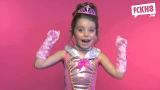 An ad that features little girls spouting the F-word while wearing princess dresses has the Internet buzzing -- and the response isn't all sugar and spice.