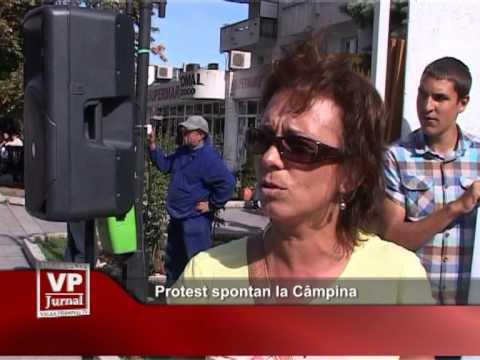 Protest spontan la Câmpina
